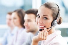Medical Answering Service Women with Headset | TeleMed Inc.