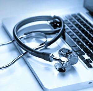 Stethoscope on Doctor Laptop | TeleMed Inc.