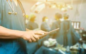 Doctor on iPad | PatientPortal | TeleMed Inc.
